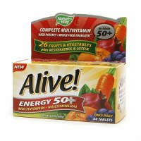 Alive! Energy 50+ Multivitamin 60 ea [033674601938]