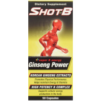 Shot B Ginseng Power Dietary Supplement Capsules 50 ea [650066000768]