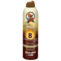 Australian Gold Continuous Spray Sunscreen with Instant Bronzer SPF 8 6 oz [054402260944]