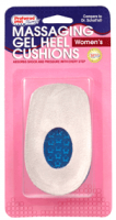 Massaging Gel Heel Cushions, Women's - One Size 1 pair [033116775661]