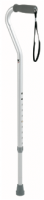 Carex Adjustable Offset Handle Cane, Aluminum 1 ea [023601728715]