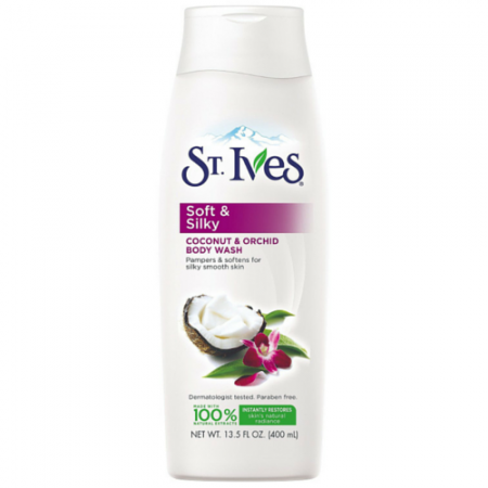 St. Ives Soft & Silky, Coconut and Orchid Body Wash 13 oz [077043101407]