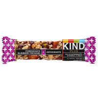 Kind Plus Bar, 1.4 oz bars, Pomegranate Blueberry Pistachio + Antioxidants 12 bars [602652170218]