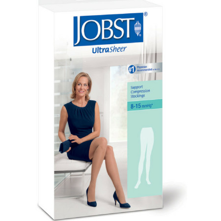 JOBST UltraSheer Support Compression Stockings 8-15 mmHg* Large Silky Beige Close-Toe 1 Each [035664172350]