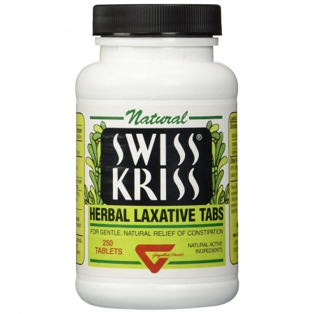 Swiss Kriss Herbal Laxative Tablets 250 ea [075820186302]