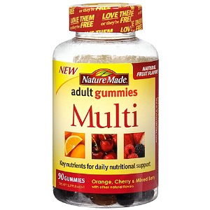 Nature Made Multi Adult Gummies, Orange, Cherry & Mixed Berry 90 ea [031604028411]