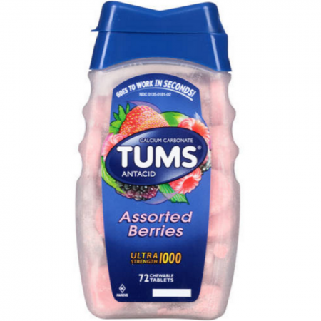 TUMS Ultra 1000 Tablets Assorted Berries 72 Tablets [307660746508]