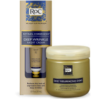 RoC Retinol Correxion Deep Wrinkle Anti-Aging With Mineral Extracts 1 oz & RoC Daily Resurfacing Disks, Skin-Conditioning Cleanser 28 ea 1 ea [191567395224]