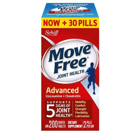 Move Free Glucosamine and Chondroitin Joint Health Supplement Tablets 200 ea [020525000071]