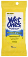WET ONES Moist Towelette, Antibacterial, Citrus, Travel Pack 15 ea [076828046681]