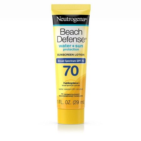 Neutrogena Beach Defense Sunscreen Lotion Broad Spectrum SPF 70 1 oz [086800472728]