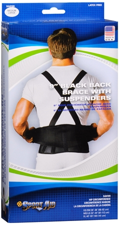Sport Aid Back Support Black M/L 1 Each [763189110440]