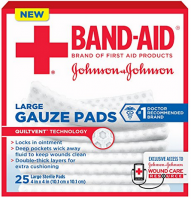 JOHNSON & JOHNSON Red Cross First Aid Gauze Pads 4 Inches X 4 Inches 25 Each [381371161287]