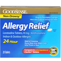 Good Sense Allergy Relief Loratadine Tablets, 10 mg 20 ea [370030146635]