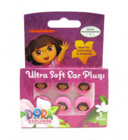 Nickelodeon Dora The Explorer Ultra Soft Ear Plugs, 3 pairs [087918595873]