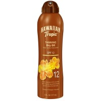 Hawaiian Tropic Tanning Dry Oil Clear Spray Sunscreen SPF 12 6 oz [075486087531]
