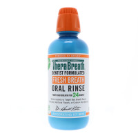 TheraBreath Fresh Breath Oral Rinse, Ice Mint 16 oz [697029101162]