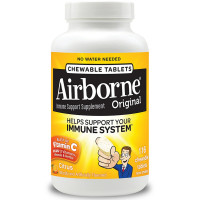Airborne Citrus Chewable Tablets 1000mg of Vitamin C - Immune Support Supplement 116 ea [647865209928]