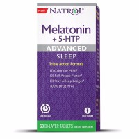 Natrol Advanced Sleep Melatonin + 5 HTP Bi-Layer Tablets 60 ea [047469072292]