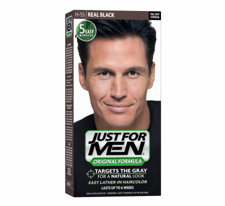 JUST FOR MEN Hair Color H-55 Real Black 1 Each [011509049353]