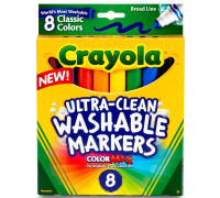 Crayola Washable Markers, Classic Colors 8 ea [071662078089]