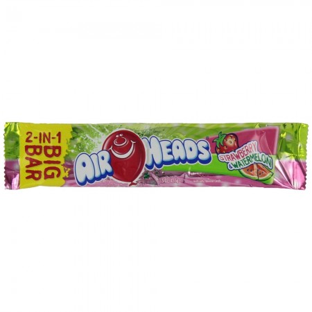 Airheads 2-in-1 Big Bar Candy Strawberry & Melon 24 ea [073390010546]