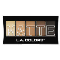 L.A. Colors 5 Color Matte Eyeshadow, Brown Tweed 0.08 oz [081555744724]