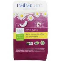 Natracare Organic Cotton Cover Natural Pads, Regular 14 ea [782126003027]