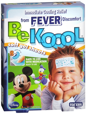 Be Koool Gel Sheets For Kids Fever 4 Each [667560001009]