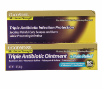 Good Sense Maximum Strength Triple Antibiotic Ointment plus Pain Relief 1 oz [301130679648]