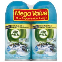 Air Wick Freshmatic Ultra Automatic Air Freshener Spray Refill, Fresh Waters, 6.17 oz each, 2 ea [062338820934]