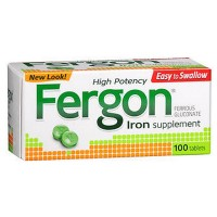 Fergon High Potency Iron Supplement Tablets 100 ea [857074001798]