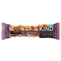 Kind Nut & Spice Bar, 1.4 oz bars, Cashew & Ginger Spice 12 bars [602652176531]