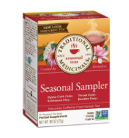 Traditional MedicinalsSeasonal Tea Sampler Variety Pack 16 ea [032917001580]