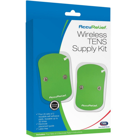 Carex AccuRelief Wireless TENS Supply Kit 1 ea [023601200037]