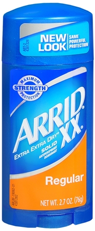 ARRID XX Anti-Perspirant Deodorant Solid Regular 2.70 oz [022600190622]