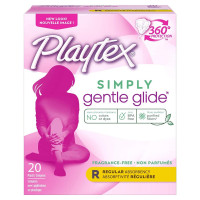 Playtex Gentle Glide 360 Unscented Regular Absorbency Tampons 20 ea [078300098379]