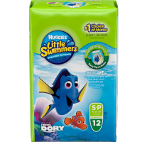 HUGGIES Little Swimmers Small 16-26 LBS 12 Each [8 packs per case] [036000183399]
