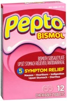 Pepto-Bismol Tablets Original 12 Each [301490320402]