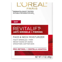 L'Oreal Revitalift Face & Neck Anti-Wrinkle & Firming Moisturizer Day Cream 1.70 oz [071249104606]
