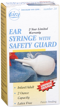 Cara Ear Syringe With Safety Guard No. 20 1 Each [038056000200]