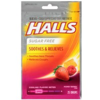 Halls Mentho-Lyptus Drops Sugar Free Honey-Berry 25 Each [312546633292]