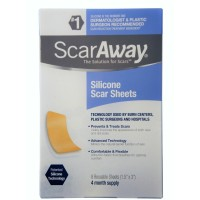 "ScarAway Silicone Scar Sheets (1.5"" x 3"") 8 ct [070030511609]"