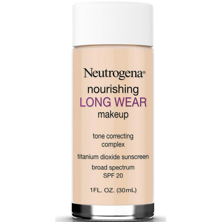 Neutrogena Nourishing Long Wear Liquid Makeup Foundation With Sunscreen, Buff 1 oz [086800437222]