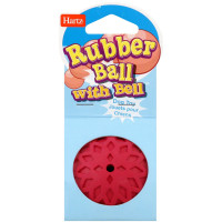 Hartz Rubber Ball with Bell for Tiny Dogs 1 ea [032700811372]