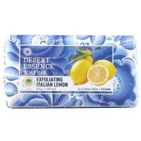 Desert Essence Bar Soap, Exfoliating Italian Lemon 5 oz [718334312125]
