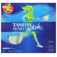 Tampax Super Absorbency, Unscented Plastic Applicator Tampons 36 ea [073010710740]
