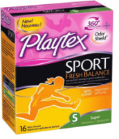 Playtex Sport Fresh Balance Tampon, Super Scented, 16 ea