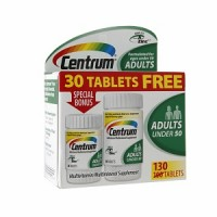 Centrum Adults Under 50 Multivitamins Bonus Size, Tablets 130 ea [300054451712]