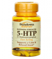 Sundown Naturals 5-HTP Capsules Maximum Strength 30 Capsules [030768301743]